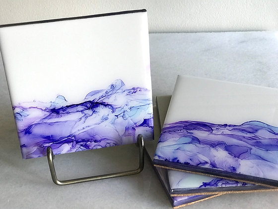Purple Waves | Coasters