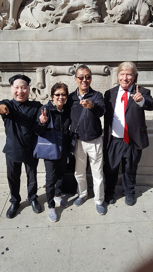 Clive and Denise Yap Sam in front of Trump Tower