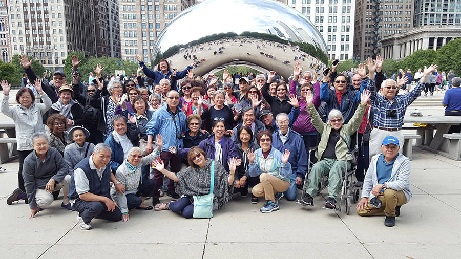 The famous 'Bean' in Chicago
