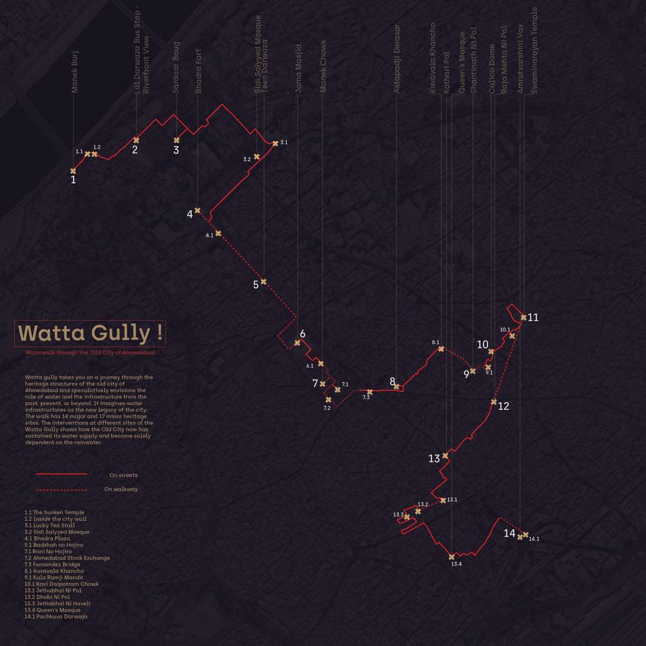 Map of Watta Gully