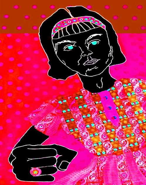 Pink Angry Girl