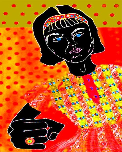 Orange Angry Girl #2