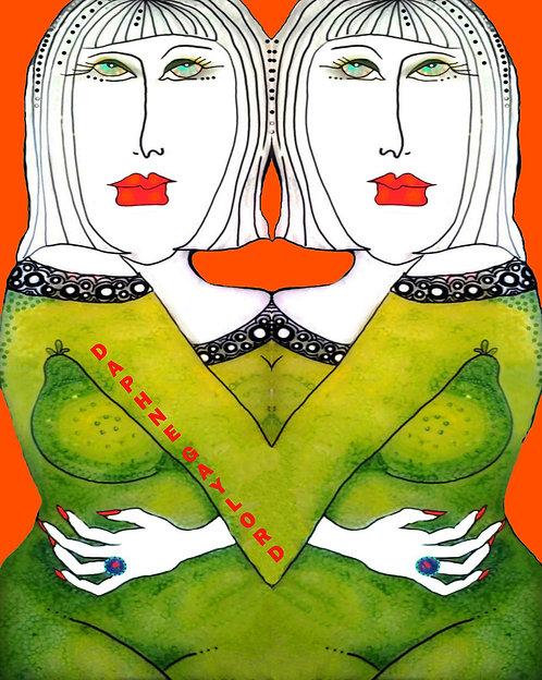Green Dress Twins