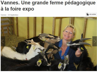 """Ouest France """"Vannes, une grande ferme pédagogique à la foire expo"""""""