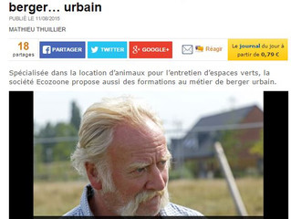 """La Voix du Nord """"Devenez berger urbain avec Ecozoone"""""""