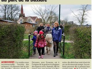 """La Voix du Nord """"Le retour des animaux au parc de la Bassure"""" Achicourt"""