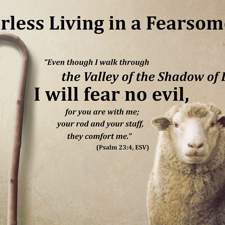 "Sermon Theme for 2021 - ""Fearless Living in a Fearsome Age"""