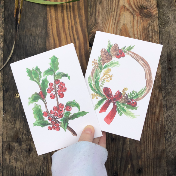 Holly&Ivy and Wreath