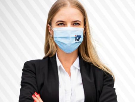 Reforço de marca com máscaras personalizadas