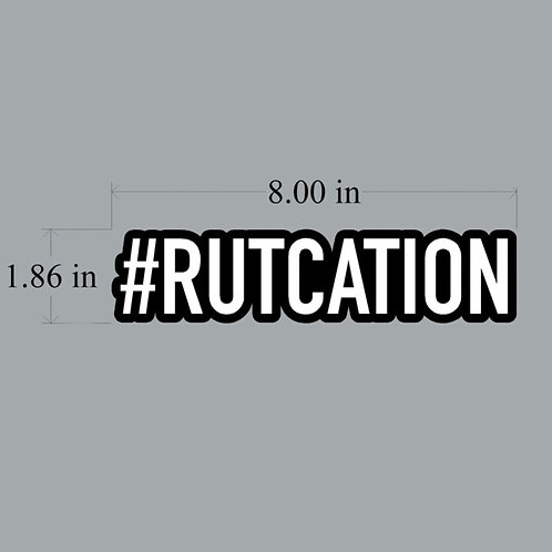 #RUTCATION DECAL