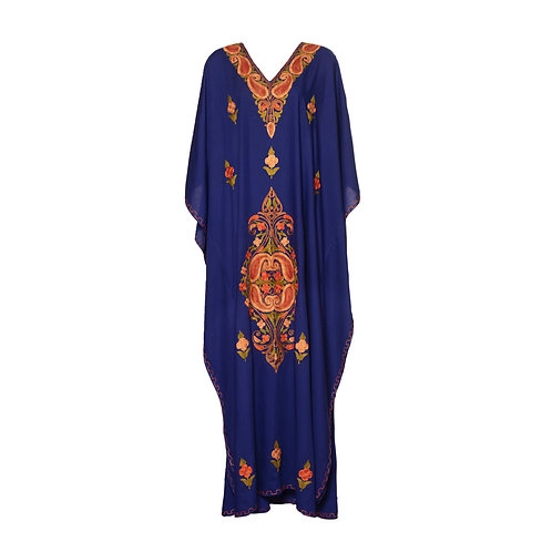 Kaftan (Violet with Red Flowers)