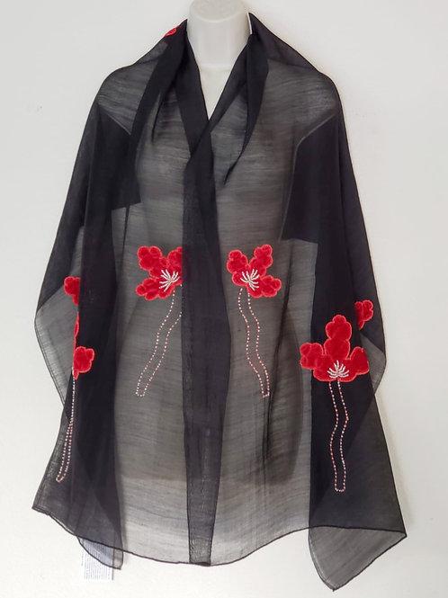 Festive Butterfly Silk Wool Fleets (Black)