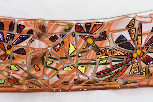 14 inch Fused Glass Bowl - Fall Mosaic