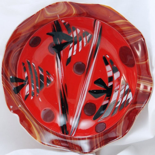 Fused Glass Fishes - 12 Inch Fused Glass Bowl