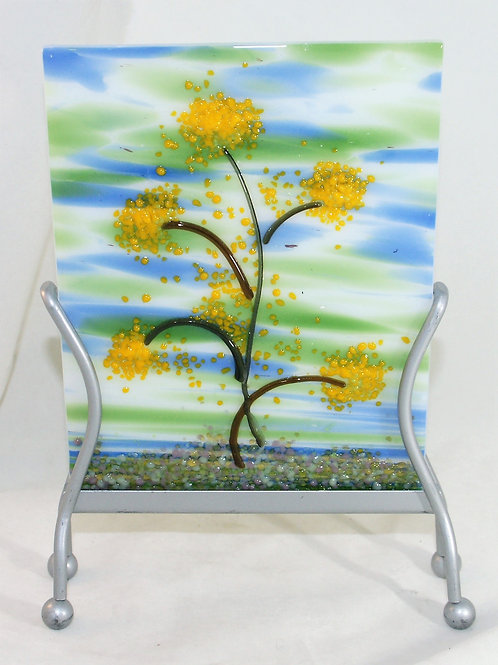 Spring Time Fun Fused Glass Picture