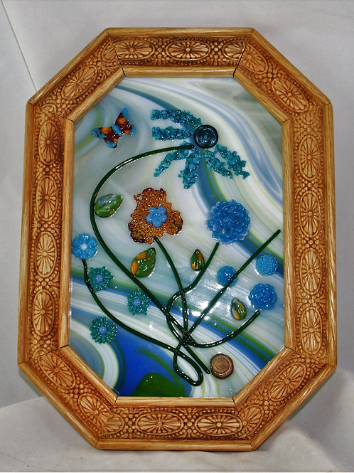 Fused Glass Pictures - Blues are the Color