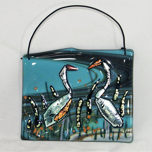 Fused Glass Picture - Fused Heron