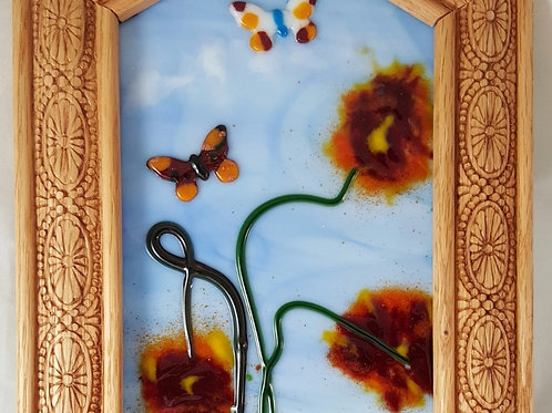 Fused Glass Summer Garden Picture