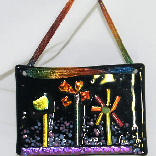 Fused Glass Garden Party Picture