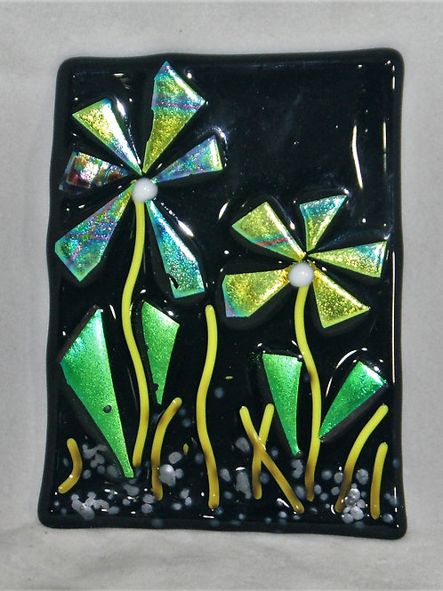 Teal Splendor- Fused Glass Picture