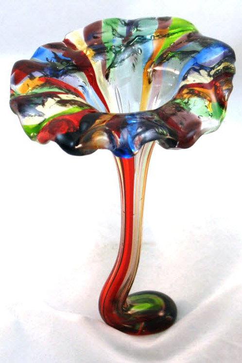 Fused Glass Drop Vase - Blossoming Flower Vase