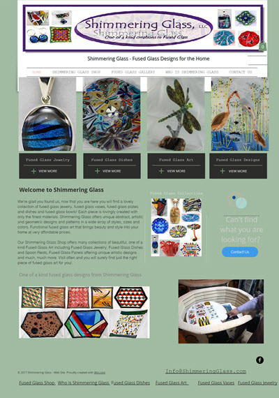 Shimmering Glass is proud to announce our new web site! Mobile friendly everyone will be able to search for their piece of shimmering glass on their PC, Tablet or mobile phone! Welcome!