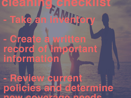 Life insurance spring cleaning
