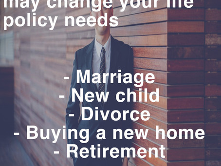 Major life events and life insurance