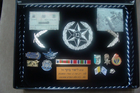 Pillow with medals, awards and ranks