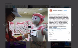 Pink robots at the factory