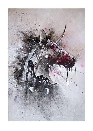 Zombie Unicorn (30cm x 42cm)