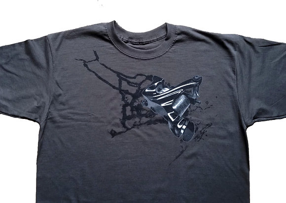 T-shirt Machine Splash (graphite)