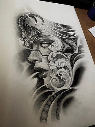 Grafito original 50x35cm