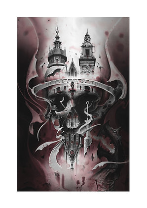 Skull Cathedral Printed on Canvas (42x58cm)