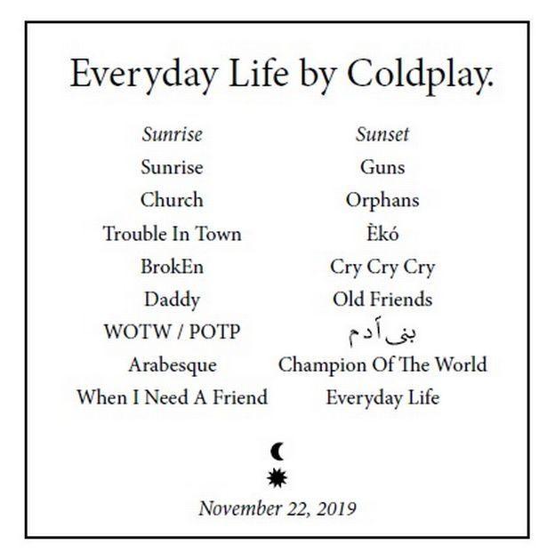 Everyday Album Songs