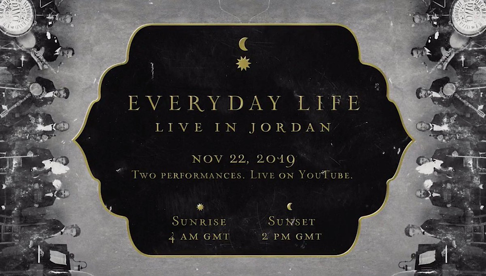 Coldplay, Everyday Life Live in Amman