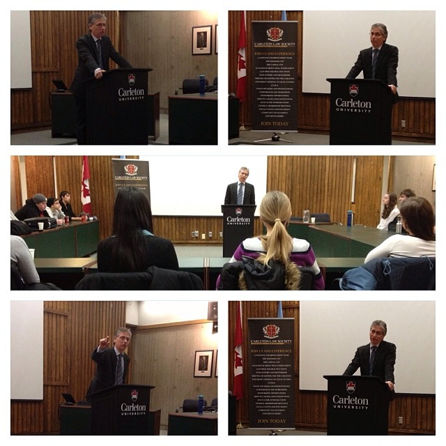 It was the Carleton Law Society's honour to have had guest speaker Justice Paciocco deliver a speech