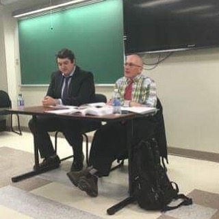 Panelists Stephen Waxman and Avery Dawes discussing Indigenous Law at our Contemporary Legal Issues