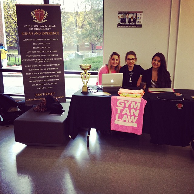 Stop by Residence Commons to talk with your Carleton Law & Legal Studies Society executive to learn