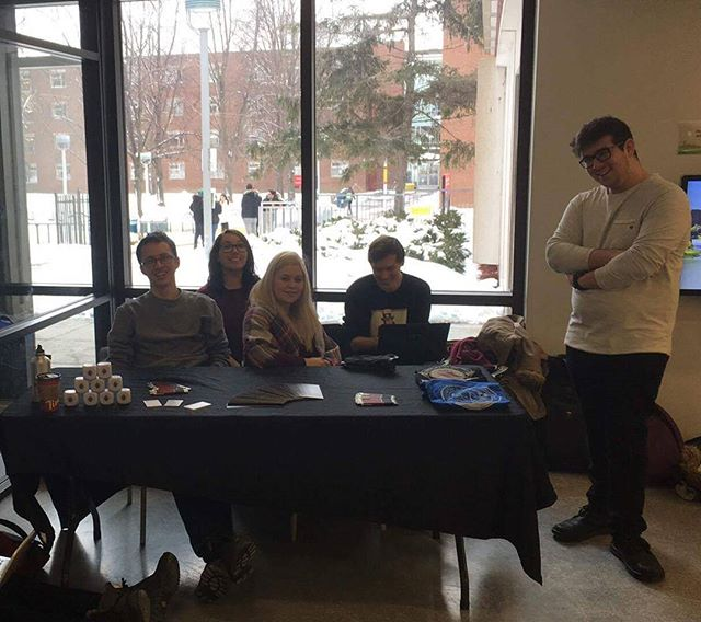 Tabling hard or hardly tabling___ We're here in Rez Com giving memberships! #newyearnewcllss