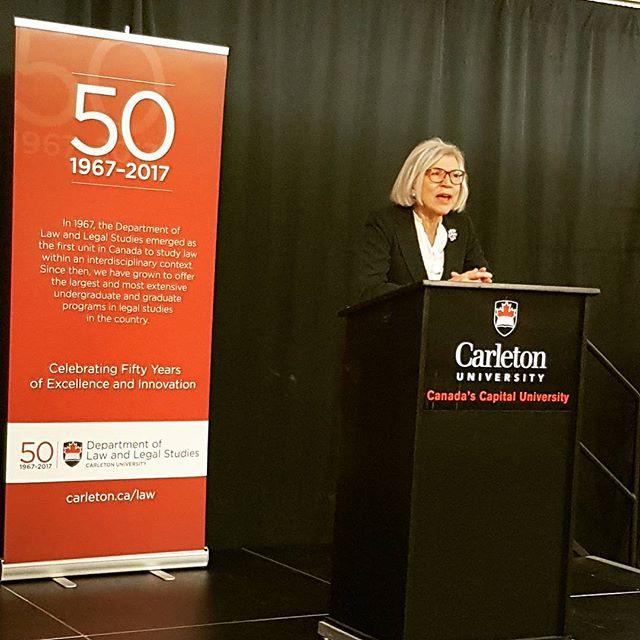 CLLSS met Chief Justice Beverley McLachlin last night at the Department of Law and Legal Studies 50t