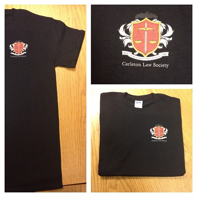 Carleton Law Society apparel is now in stock! T-shirts are $15, and available in sizes S-XL