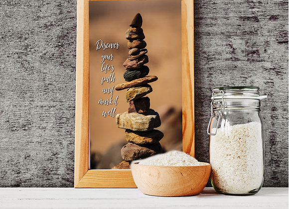 STACKED STONES Wall Print | Discover Your Life's Path and Mark it Well | Digital