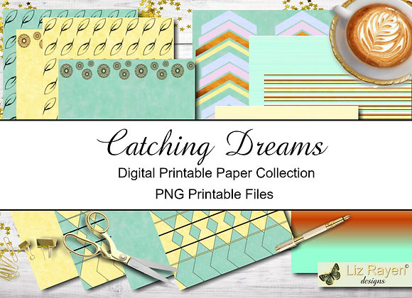 Digital-Printable-Papers-Catching-Dreams-Collection-Instant-Download