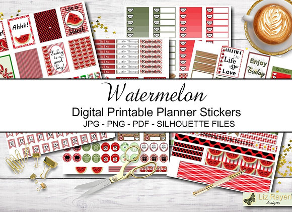 Digital-Printable-Planner-Stickers-Watermelon-Collection