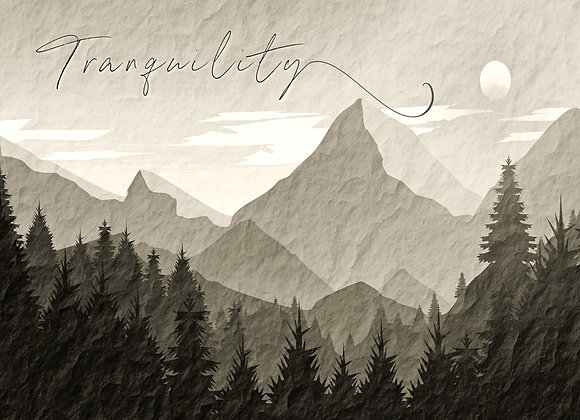 MOUNTAIN MIST - TRANQUILITY | Wall Print | Digital Download