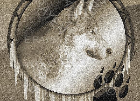 WALL ART DECOR, 8 x 10  Printable Download, Wolf Animal Spirit