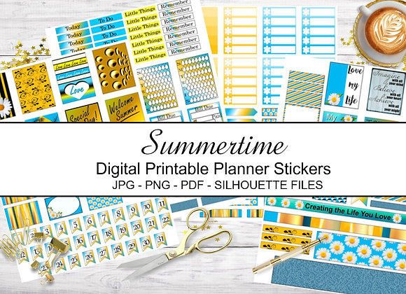 Digital-Printable-Planner-Stickers-Summertime-Collection