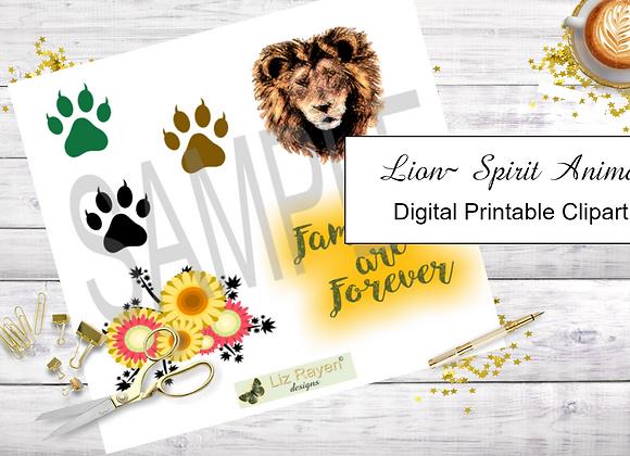Digital Printable Clip Art - Lion Collection - Instant Download