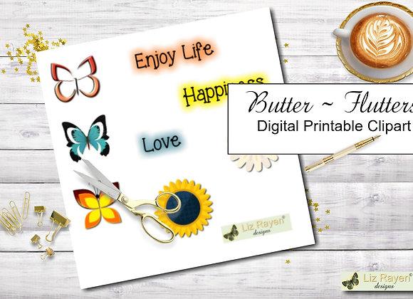 Digital-printable-clip-art-butter-flutters-collection-instant-download